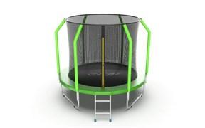 EVO JUMP Cosmo 8ft Green Батут с внутренней сеткой и лестницей диаметр 8ft зеленый