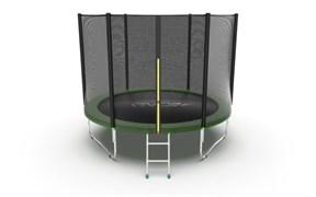 EVO JUMP External 10ft Green Батут с внешней сеткой и лестницей диаметр 10ft зеленый
