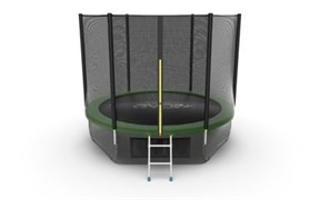 EVO JUMP External 10ft Green + Lower net Батут с внешней сеткой и лестницей диаметр 10ft зеленый + нижняя сеть