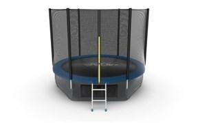 EVO JUMP External 10ft Blue + Lower net Батут с внешней сеткой и лестницей диаметр 10ft синий + нижняя сеть