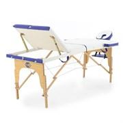 Массажный стол складной деревянный Med-Mos JF-AY01 3-х секционный (светлая рама)